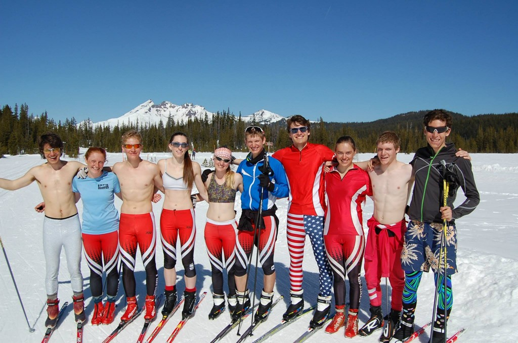 The nationals team soaking up the sun post-race in Bend, Oregon